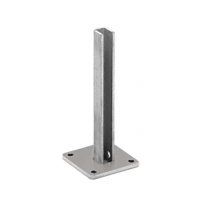 "CRL BPEST30BS Brushed Stainless Steel Surface Mount Stanchion for up to 72"" Barrier End Post"