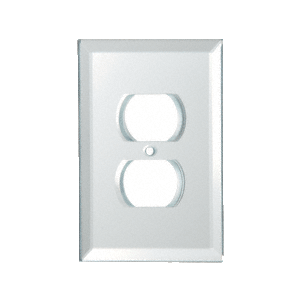 CRL GPP2W White Duplex Plug Back Painted Glass Cover Plate