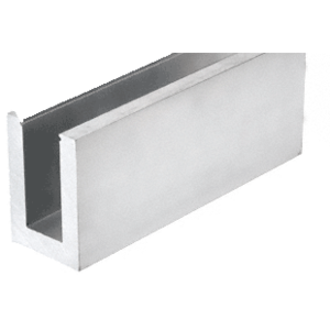 """Mill Aluminum L21S Series Standard Square Base Shoe Drilled with 13/16"""" Holes Pattern """"D"""" 118-1/8"""" Length"""