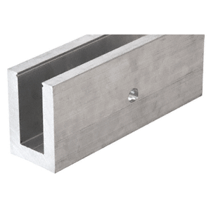 """Mill Aluminum 118-1/8"""" L25S Series Standard Square Base Shoe Drilled with 9/16"""" Fascia Holes Patten """"F"""""""