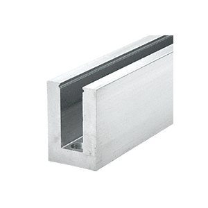 "Mill Aluminum Square Heavy-Duty Base Shoe Drilled with Hole Pattern ""D"" in a 20' Length"
