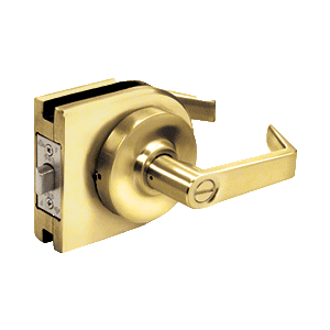 Polished Brass Grade 1 Lever Lock Housing - Privacy