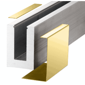 Polished Brass L68S Series Outside Fascia Cladding