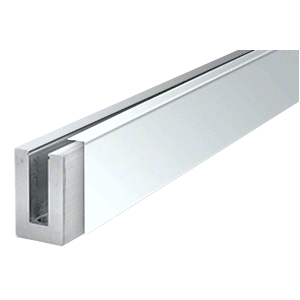 "316 Polished Stainless 120"" Straight Cladding for B5S Series Standard Square Aluminum Base Shoe"