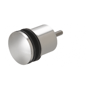 """Polished Stainless 2-3/8"""" x 1-3/4"""" Point Supported Standoff Base and Domed Cap"""
