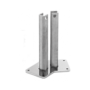 "Polished Stainless Steel Surface Mount Stanchion for up to 72"" Barrier 135 Post"