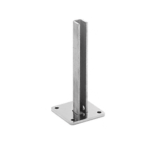 "Polished Stainless Steel Surface Mount Stanchion for up to 72"" Barrier End Post"