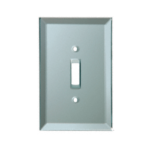 Toggle Switch Back Painted Glass Cover Plate - Blue Mist