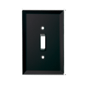 Black Toggle Switch Back Painted Glass Cover Plate