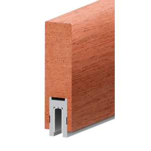 """Mahogany Finish 633 Series 2-1/2"""" x 8"""" (63.5 x 203 mm) Wood Cap Railing 120"""" (3.05 m) Lengths Wood Cap Railing"""