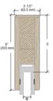 "CRL Blumcraft 633MP Maple Finish 633 Series 2-1/2"" x 8"" (63.5 x 203 mm) Wood Cap Railing 120"" (3.05 m) Lengths Wood Cap Railing"