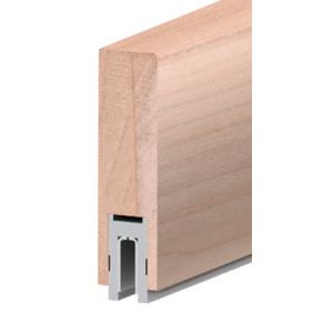 "CRL Blumcraft 633PL Poplar Finish 633 Series 2-1/2"" x 8"" (63.5 x 203 mm) Wood Cap Railing 120"" (3.05 m) Lengths Wood Cap Railing"