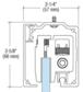 "CRL CRL2812 280 Series Satin Anodized Single Slider Kit for 3/8"" and 1/2"" Tempered Glass"