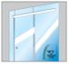 "CRL CRL2812G 280 Satin Anodized Series Single Sliding Door Glass Fixed Panel Mount Installation Kit for 1/2"" (12 mm) Tempered Glass"