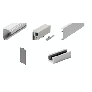 """280 Series Satin Anodized Single Slider Kit for 3/8"""" and 1/2"""" Tempered Glass"""