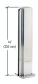 """CRL D990BA14C Brite Anodized 14"""" Center Design Series Partition Post"""