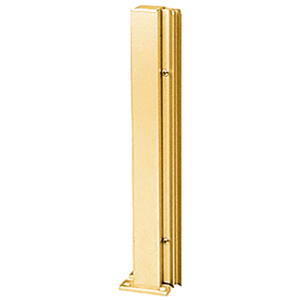"Brite Gold Anodized 24"" 135 Degree LH Center Design Series Partition Post"