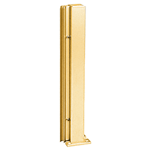 "Brite Gold Anodized 24"" 135 Degree RH Center Design Series Partition Post"
