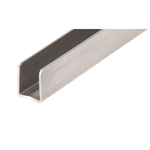 "CRL SAC14BS98 Brushed Stainless 1/4"" Radiused Back U-Channel - 98"""