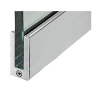 "CRL SP64BS12S Brushed Stainless 2-1/2"" Tall Slender Profile Door Rail Without Lock - 35-3/4"""