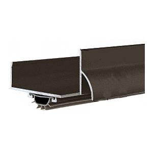 "35-3/4"" Dark Bronze Anodized U-Shape Door Bottom with Full Notch"