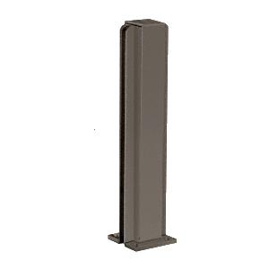 "Duranodic Bronze 14"" Center Design Series Partition Post"