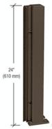 "CRL D990DU24135R Duranodic Bronze 24"" 135 Degree RH Center Design Series Partition Post"