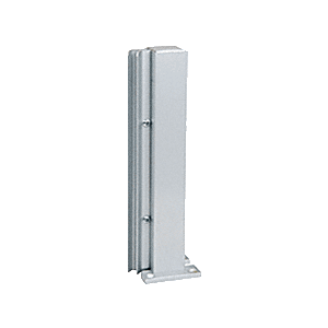 "Satin Anodized 12"" 135 Degree RH Center Design Series Partition Post"