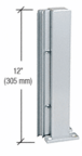 "CRL D990A12135R Satin Anodized 12"" 135 Degree RH Center Design Series Partition Post"