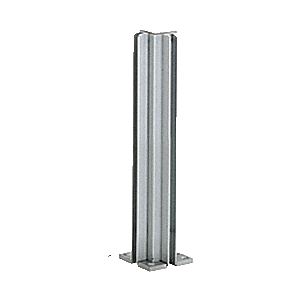 """Satin Anodized 14"""" 3-Way Design Series Partition Post"""