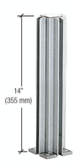 """CRL D990A143W Satin Anodized 14"""" 3-Way Design Series Partition Post"""
