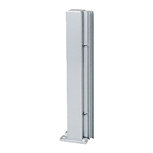 """Satin Anodized 16"""" 135 Degree LH Center Design Series Partition Post"""