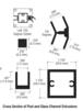 "CRL D990A16135L Satin Anodized 16"" 135 Degree LH Center Design Series Partition Post"