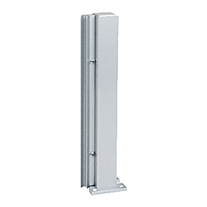"Satin Anodized 16"" 135 Degree RH Center Design Series Partition Post"