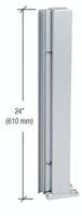 "CRL D990A24135R Satin Anodized 24"" 135 Degree RH Center Design Series Partition Post"