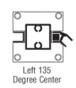 "CRL D990A30135L Satin Anodized 30"" 135 Degree LH Center Design Series Partition Post"