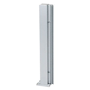 """Satin Anodized 30"""" 135 Degree LH Center Design Series Partition Post"""