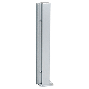 "Satin Anodized 30"" 135 Degree RH Center Design Series Partition Post"