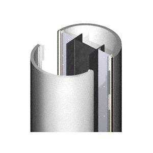 CRL PCR2X10SM Silver Metallic 2' x 10' Premium Round Column Cover