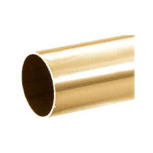 "Polished Brass 2"" Diameter Round .050"" Tubing - 98"""
