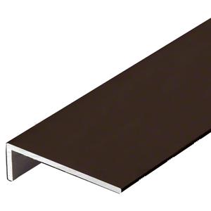 "CRL-U.S. Aluminum A20022 Bronze Black Anodized 'L' Angle, 2-7/8"" x 7/8"" x 1/8"" - 21'-2"""