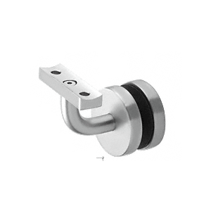 Satin Anodized Aluminum Imperial Series Glass Mounted Hand Rail Bracket