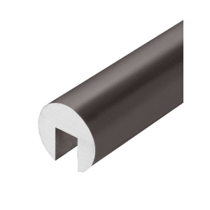 "Dark Bronze Anodized 337 Series 2"" Diameter Extruded Aluminum Cap Rail"