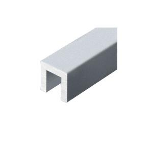 """Mill Aluminum 324 Series 1-3/8"""" x 1-3/8"""" Extruded Aluminum Cap Rail"""