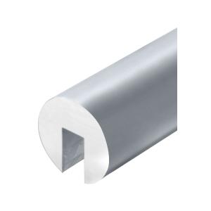 """Mill Aluminum 338 Series 2-1/2"""" Diameter Extruded Aluminum Cap Rail"""