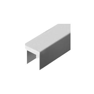 "Satin Anodized 324 Series 1-3/8"" x 1-3/8"" Extruded Aluminum Cap Rail"