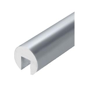 """Satin Anodized 337 Series 2"""" Diameter Extruded Aluminum Cap Rail"""