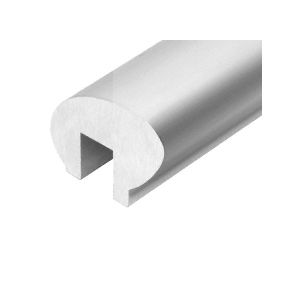 Satin Anodized 376 Series Elliptical Aluminum Cap Rail