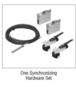 CRL CRL502S2 50 Series Bi-Parting with Two Fixed Panels Synchronized Wall Mount Kit