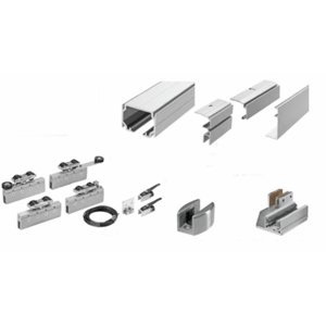 50 Series Two Panel Telescoping Behind Fixed Panel Ceiling Mount Kit - Right Stacking Direction